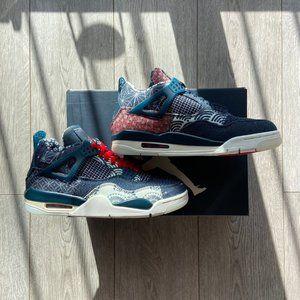 """Nike Air Jordan 4 Retro """"Sashiko""""  Deep Ocean"""